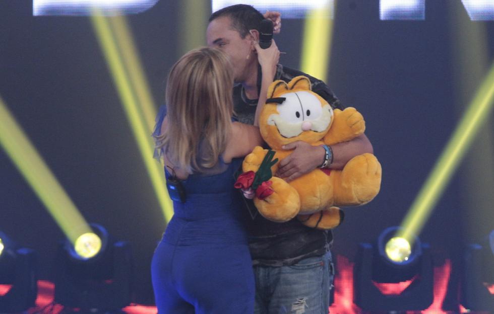 Gisela Valcárcel y Roberto Martínez coquetearon en su reencuentro. (Martín Pauca)