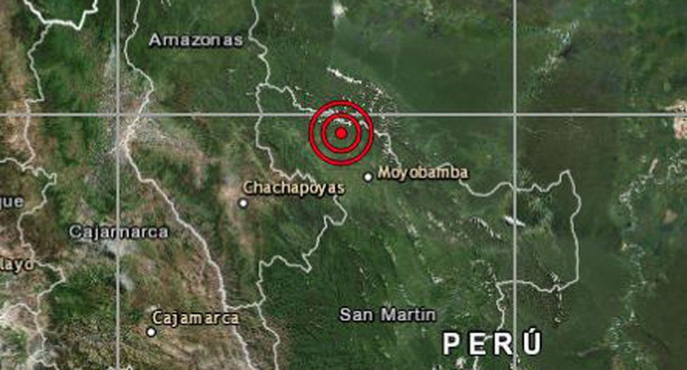 Sismo de 5 grados en San Martín. (Maps)