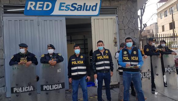 El falso policlínico funcionaba en este inmueble de San Martín de Porres. (Foto: PNP)