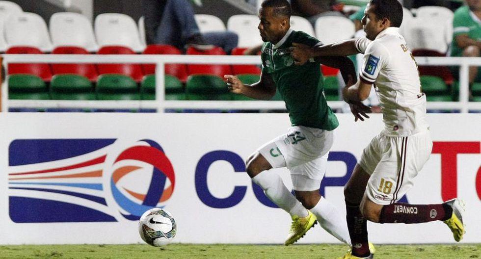 En el choque de ida disputado en Cajamarca, UTC y Deportivo Cali igualaron sin goles. (EFE)