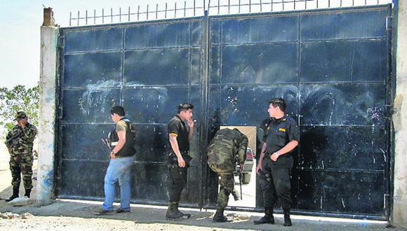 GOLPE. Operativo policial se realizó en la zona de Villa Comunal. (Jorge Merino)