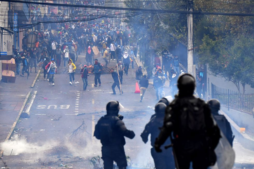 Violentas protestas se han desatado en las últimas horas en Quito, Ecuador. (Foto: AFP)