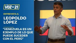 """Leopoldo López: """"Venezuela es un ejemplo de lo que puede suceder con el Perú"""""""