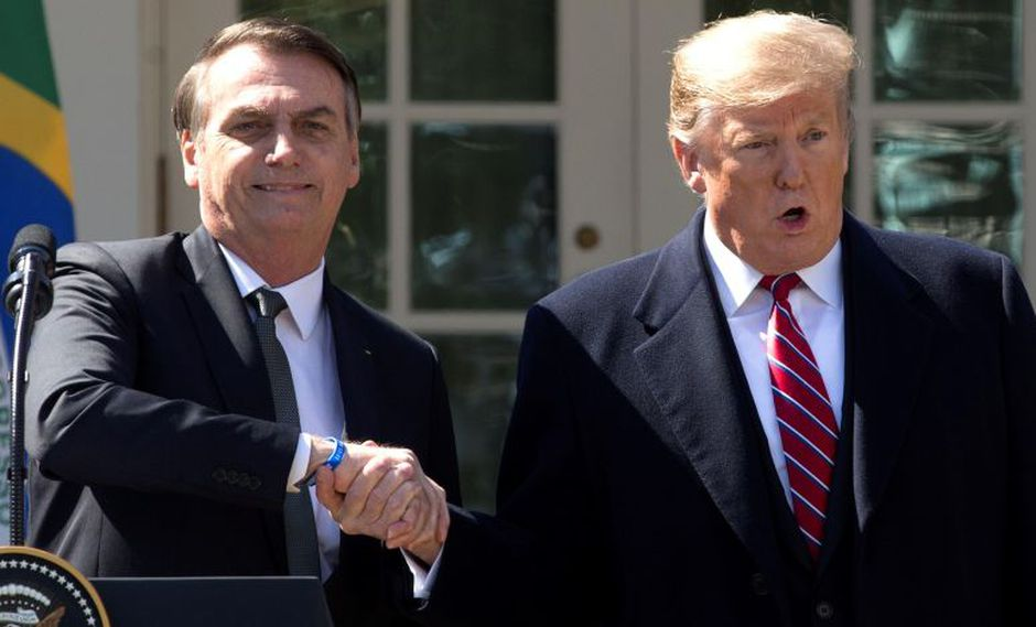 Jair Bolsonaro mantuvo una reunión con Donald Trump en la Casa Blanca. (Foto: EFE)