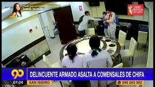 San Isidro: Comensales de chifa sufren robo a plena luz del día