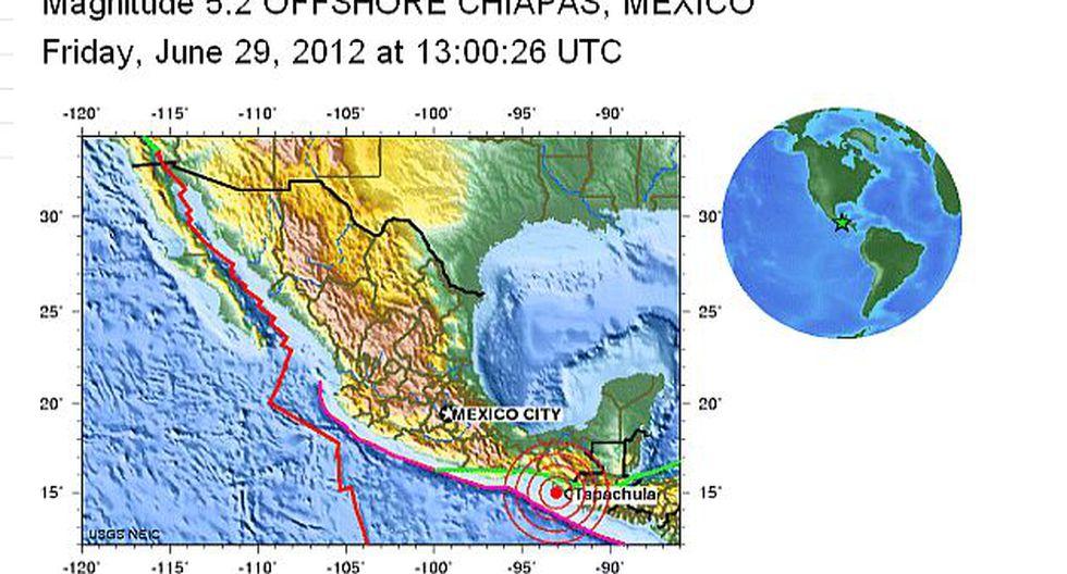 Epicentro se ubicó en la zona fronteriza con México. (USGS)