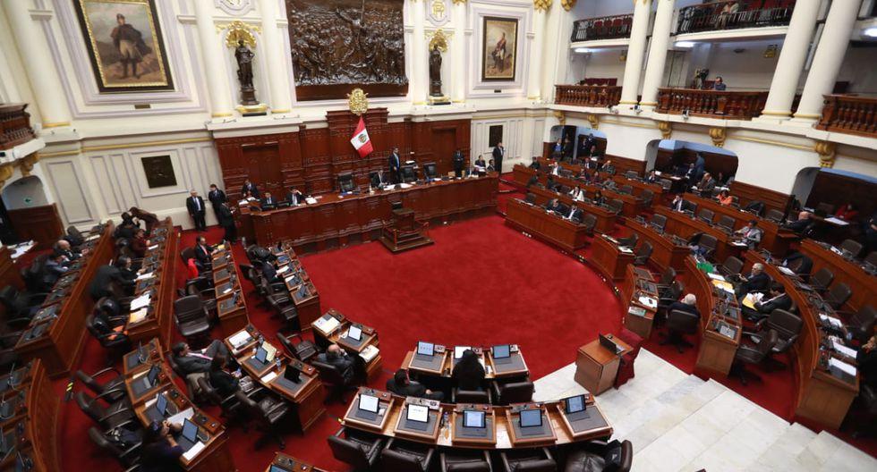 La votación alcanzó 70 posiciones a favor en el pleno del Congreso. (Foto: Congreso)
