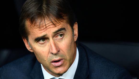 Julen Lopetegui reconoce que el Sevilla fue superior al Real Madrid en el primer tiempo. (Foto: AFP)