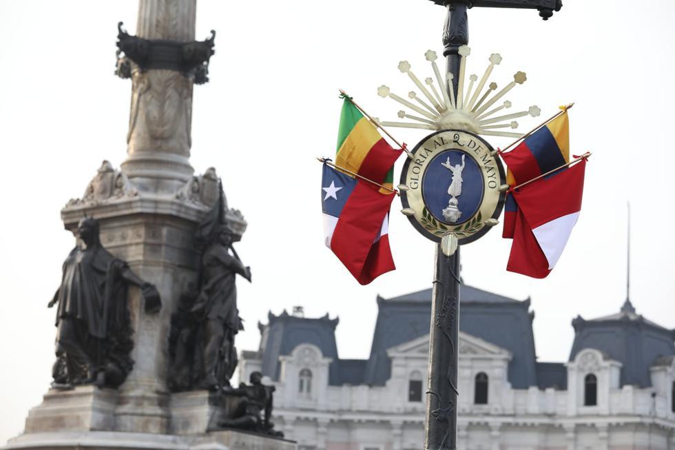 Como parte de los trabajos de recuperación de esculturas públicas del Centro Histórico de Lima y a pocos meses del bicentenario de la Independencia del Perú, la Municipalidad de Lima entregó este martes el restaurado monumento a la victoria del combate de 2 de Mayo, que conmemora a los héroes que dieron su vida ese día. (Foto: GEC)