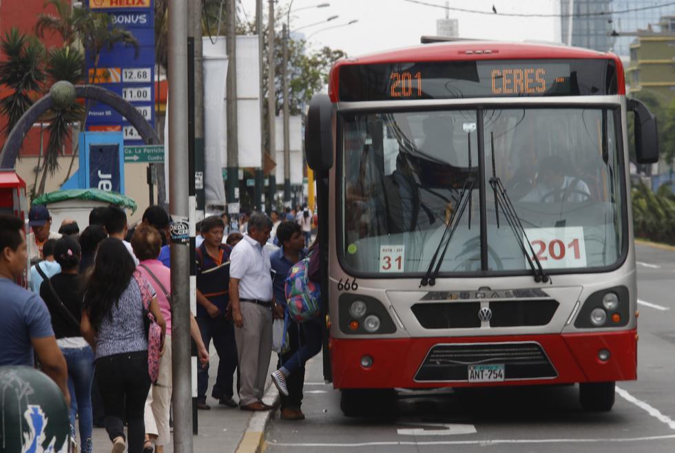 Desde el 1 de junio, el Corredor Rojo solo se podrá utilizar con 'Lima Pass'. (DANTE PIAGGIO/ GEC)