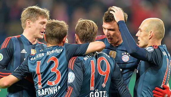 Bayern Munich clasificó a las semifinales de la Copa Alemana. (AFP)