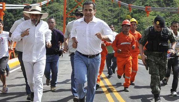 Sin angustias. Presidente inauguró obra en región San Martín. (Difusión)