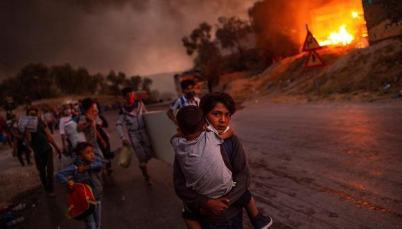 """Esta fotografía de Angelos Tzortzinis recibe el 22 de diciembre de 2020 el primer premio de la """"Foto del año de Unicef"""". (Foto: EFE / EPA / ANGELOS TZORTZINIS GRECIA AFP)"""