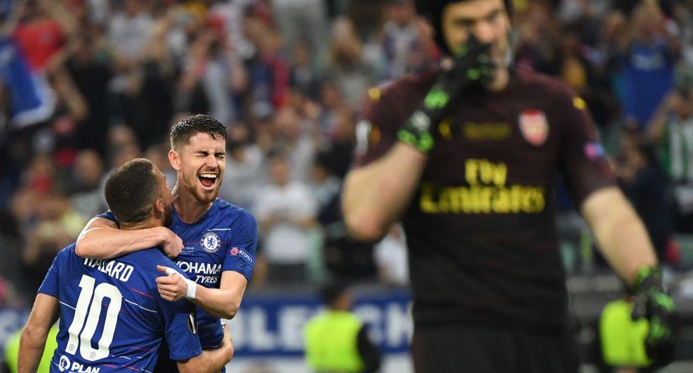 Chelsea conquistó la Europa League tras vencer 4-1 al Arsenal en Bakú. (Foto: AFP)