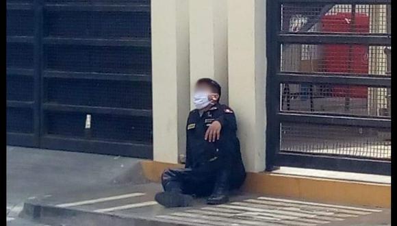 La Libertad. Policía no podía sostenerse de pie y en la posta médica se negaron inicialmente a auxiliarlo.  (PNP)