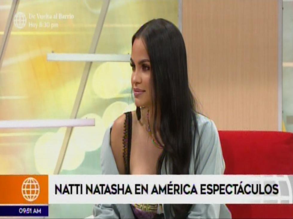 Natti Natasha ya está en Lima y así fue su primera entrevista (Foto: Captura de pantalla)
