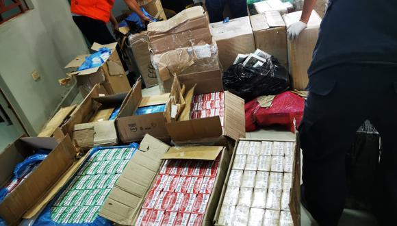 Lambayeque: incautan más de 400 mil cigarrillos y pirotécnicos en Chiclayo (Foto: PNP)