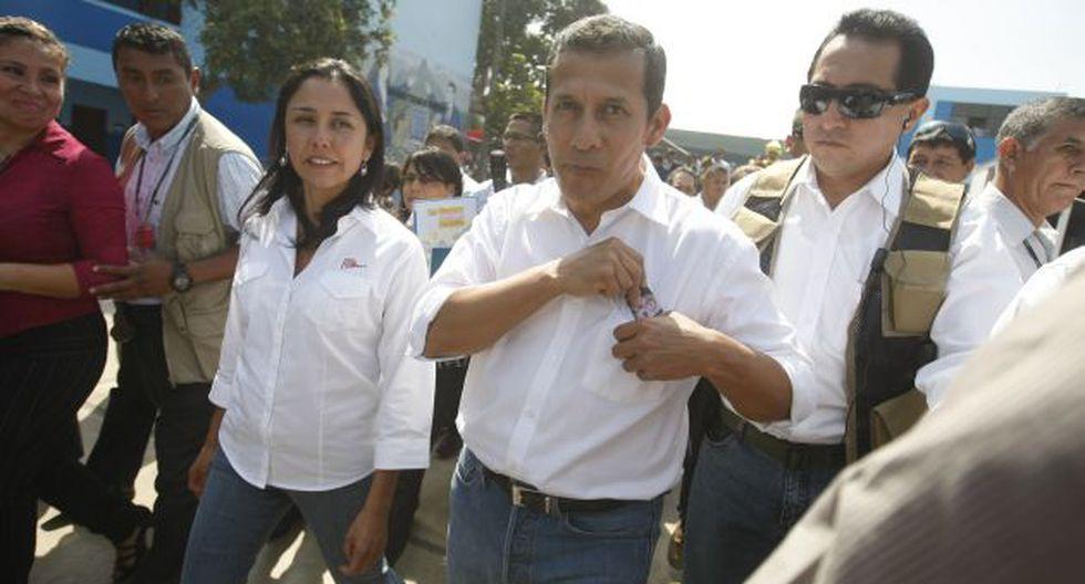 JUEGAN EN PARED. El presidente Humala y su esposa rompieron su silencio para responderle a García. (Mario Zapata)