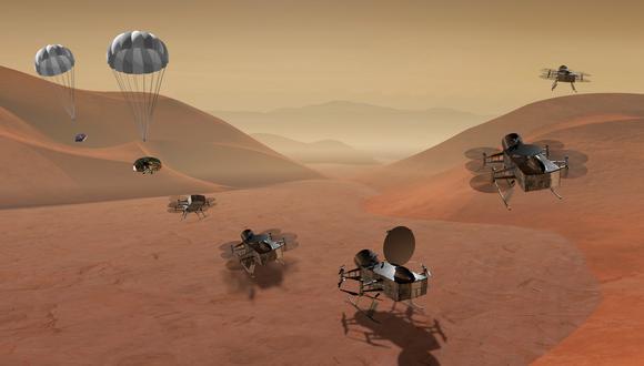 "La NASA enviará a su robot espacial, bautizado ""Dragonfly"" (Libélula en inglés), en 2026. (Foto: AP)"