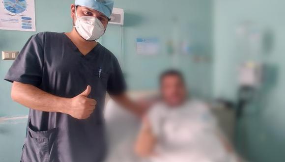 La Libertad: Paciente supera el COVID-19 y sobrevive a la extracción de un tumor nasal  (Foto: EsSalud)