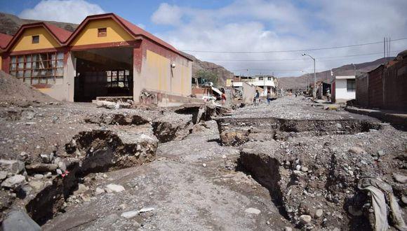 Desastre en la región de Tacna a causa de las intensas lluvias. (Foto: Prefectura Tacna)