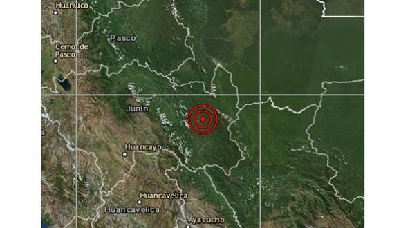 Un sismo de magnitud 4,0 se registró en Junín la tarde de este viernes a las 13:36 horas, según IGP. (Foto: IGP)