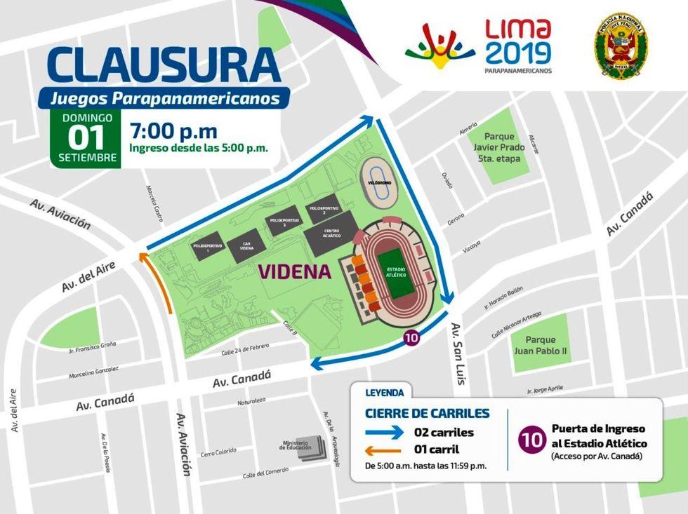 Ingreso al reciento deportivo será por orden de llegada desde las 17:00 horas. (Lima 2019)