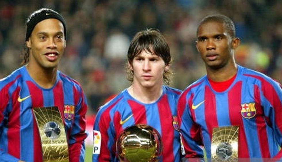 Ronaldinho, Eto'o y Messi deslumbraron en el 2006. (Getty images)
