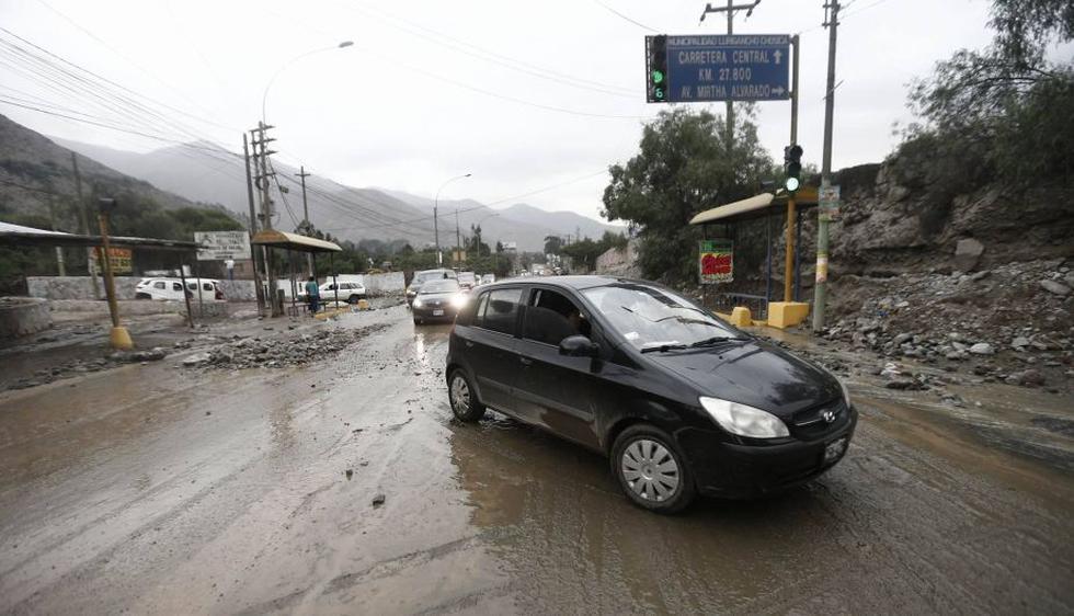 Chosica: Nuevo huaico bloquea la Carretera Central. (Renzo Salazar/Perú21)