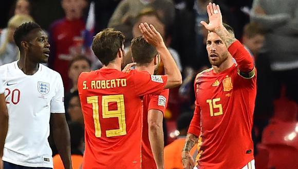 Sergio Ramos volvió a Wembley y fue abucheado por hinchas de Inglaterra. (AFP)