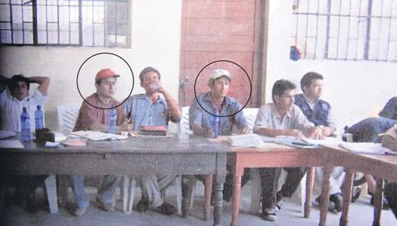 Imagen del juicio en el que participaron Santos (gorra roja), Ydelso Hernández (gorra crema) y Elianita Zavaleta. (Difusión)