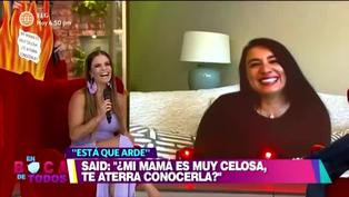 "Mamá de Said Palao sobre relación con Alejandra Baigorria: ""Soy muy feliz de que estén juntos"""