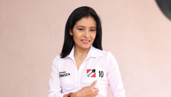 Maria Espinoza postula al Congreso de la República con el Nº 10 por Acción Popular. (Difusión)
