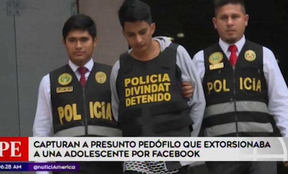 La detención de esta persona se logró en el distrito de Los Olivos, informó 'América Noticias'. (Foto: Captura 'América Noticias')