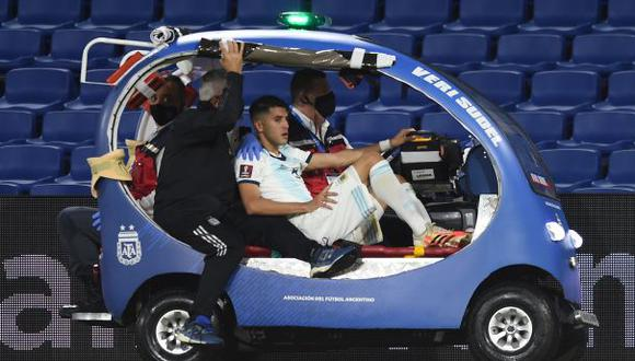 Exequiel Palacios volvió a lesionarse y es baja en la selección de Argentina. (Foto: AFP)