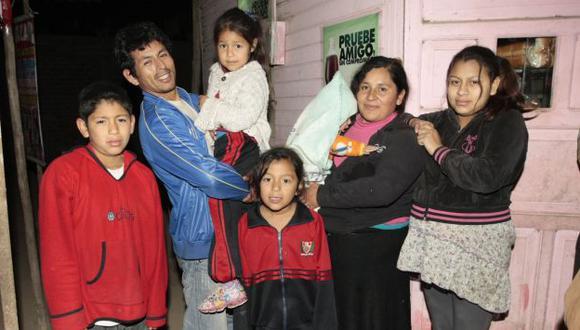 Final feliz para la familia. (Andrés Cuya/USI)