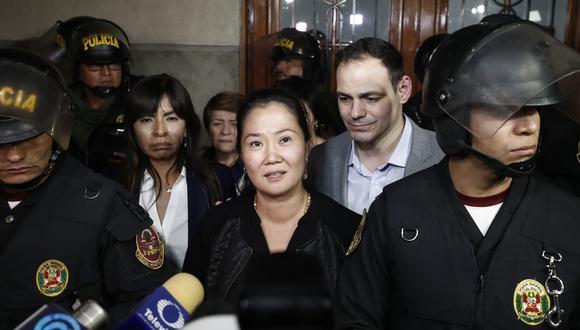 Keiko Fujimori es actualmente investigada por lavado de activos junto a su esposo Mark Vito Villanella. (Foto: GEC)