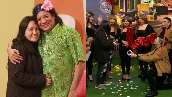 """Carlos Vílchez sorprende a su pareja al pedirle matrimonio en """"JB en ATV"""". (Foto: Composición)"""