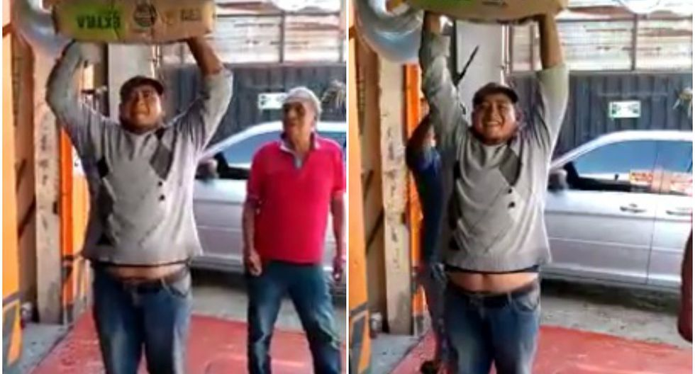 Curiosa escena fue captada en un negocio de México. (Foto: Captura)