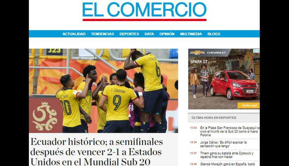 Así reaccionaron los medios de comunicación del mundo tras la clasificación de Ecuador a semifinales del Mundial Sub 20.