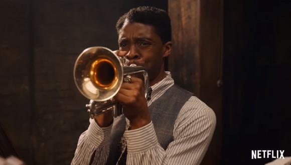 En el filme de Netflix, Chadwick Boseman interpretó a un trompetista enérgico y testarudo llamado Levee. (Foto: Netflix)