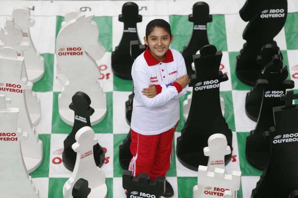 Fiorella tiene 10 años y ha jugado ajedrez casi la mitad de su vida. (Mario Zapata)