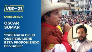 """Oscar Sumar: """"Casi nada de lo que Perú Libre está proponiendo es viable"""""""