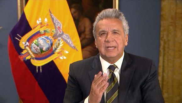 Lenín Moreno, presidente de Ecuador, lamenta anuncio de exjefes disidentes de las FARC. (Foto: AFP)