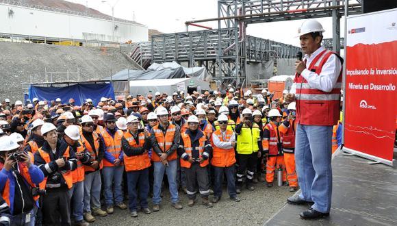 EMPLEO. Toromocho generará 2,500 puestos de trabajo directo. (Andina)