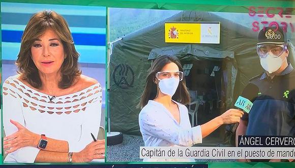 Una periodista que tuvo una actitud temeraria en la zona donde hay viviendas afectadas por el volcán de La Palma fue aleccionada en señal abierta. (Foto: captura de pantalla)