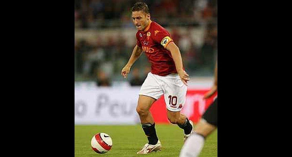 7.- Francesco Totti (AS Roma), en 43.1 millones de dólares. (Foto: Agencias)