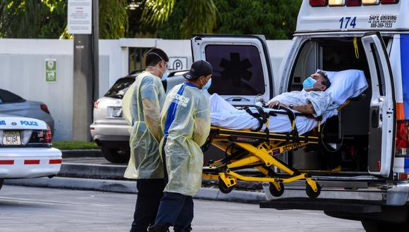 El balance provisional de fallecidos -185.669- supera con creces la cota más baja de las estimaciones iniciales de la Casa Blanca, que proyectó en el mejor de los casos entre 100.000 y 240.000 muertes a causa de la pandemia. (Foto: CHANDAN KHANNA / AFP)