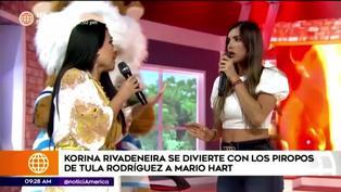 Korina Rivadeneira y su reacción hacia Tula Rodríguez por dedicarle un baile a Mario Hart