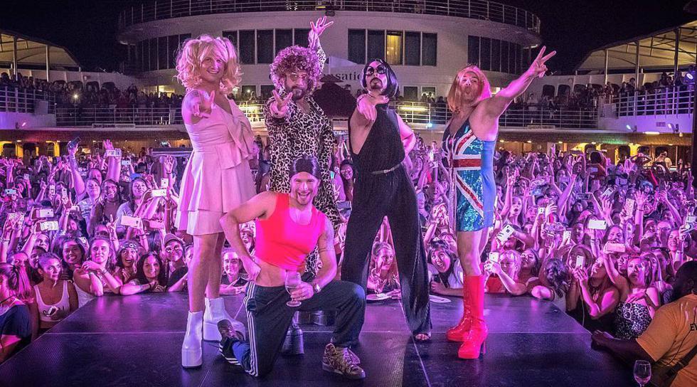 La reconocida 'boy band' no dudó en rendirle un insólito homenaje a sus homólogas femeninas. (Créditos: Instagram de Backstreet Boys)
